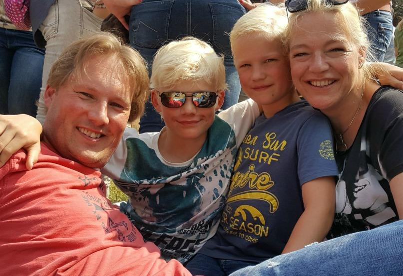 Dauwpop met kinderen