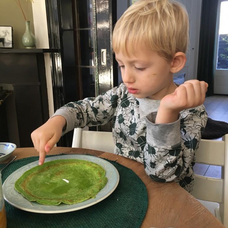 Groene pannenkoeken