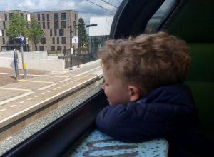 Een dagje in de trein samen met mijn zoon